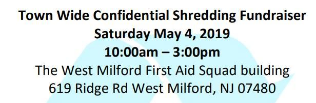 WMFAS Town Wide Confidential Shredding Fundraiser at West