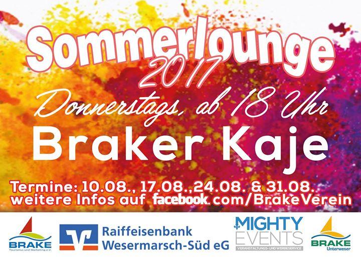 Sommerlounge mit Patrick Ahlers at Brake Tourismus & Marketing e.V. ...