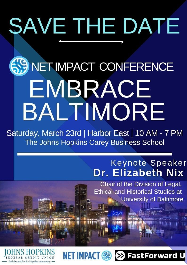 2019 Net Impact Conference Embrace Baltimore