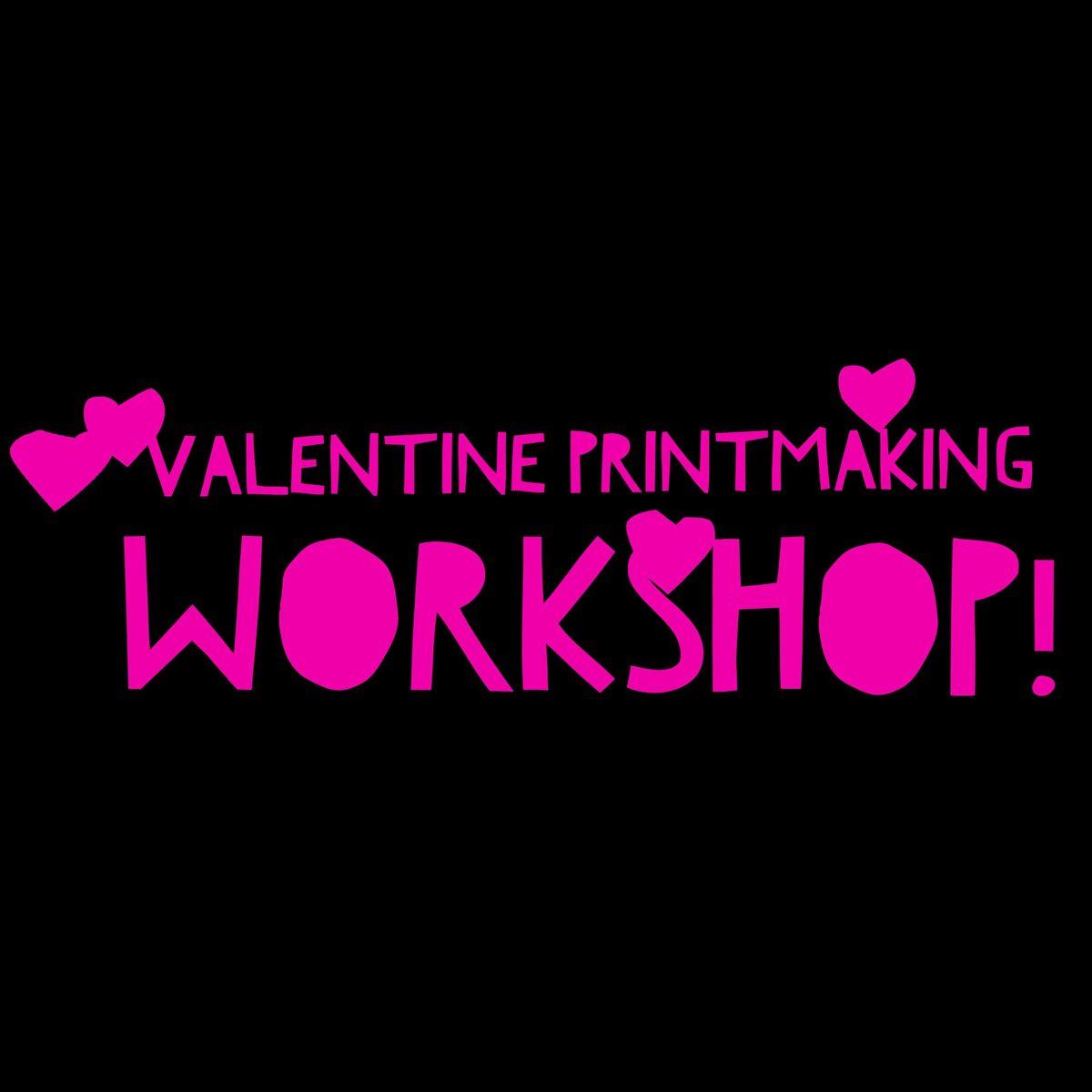 Valentine Printmaking Workshop for Toddlers