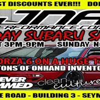 INSANE 2 DAY Subaru Aftermarket Sales Event