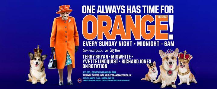 Orange - 14th of January 2018 midnight till 6am