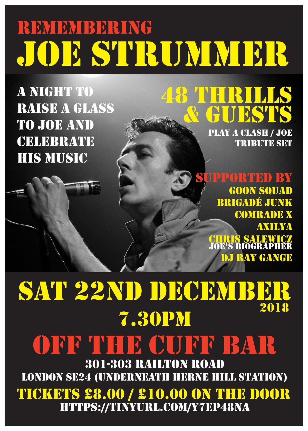 cfe6f1fe8c4a Remembering Joe Strummer - Celebrating The Clash at Off The Cuff