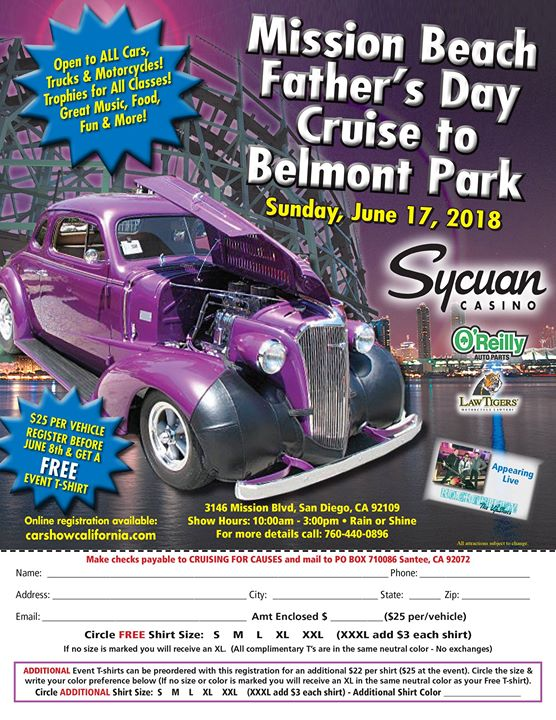 Join In For A Fun Car Show In Belmont Park On Fathers Day At - San diego car show 2018
