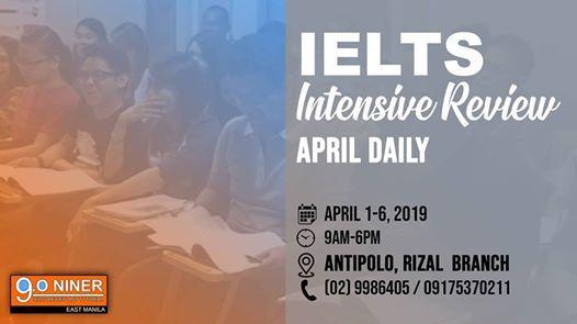 IELTS Intensive Review - April 2019