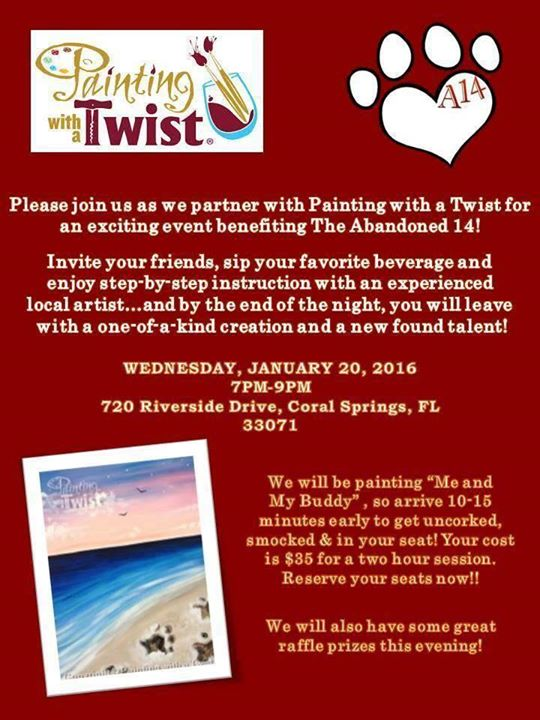 Painting with a twist fundraiser coral springs for Painting with a twist arizona