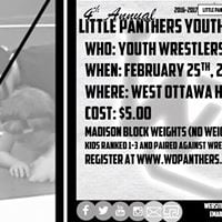 2017 Little Panthers Youth Wrestling Tournament