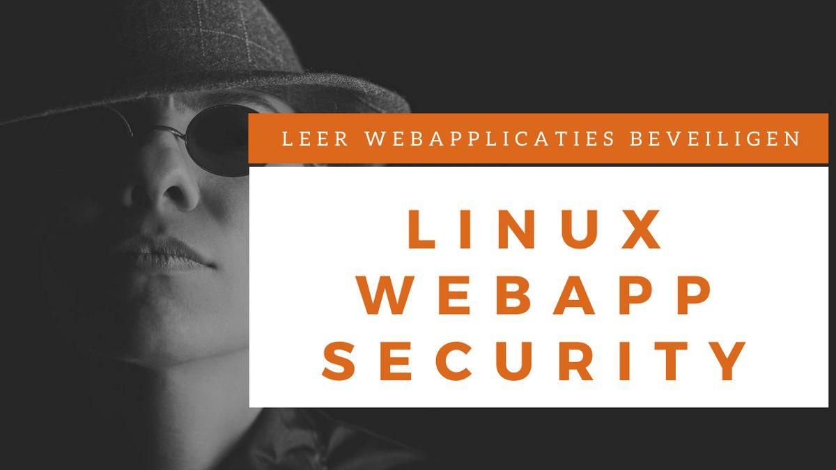 Webapplicatie Security Klassikale Training (Nederlands)