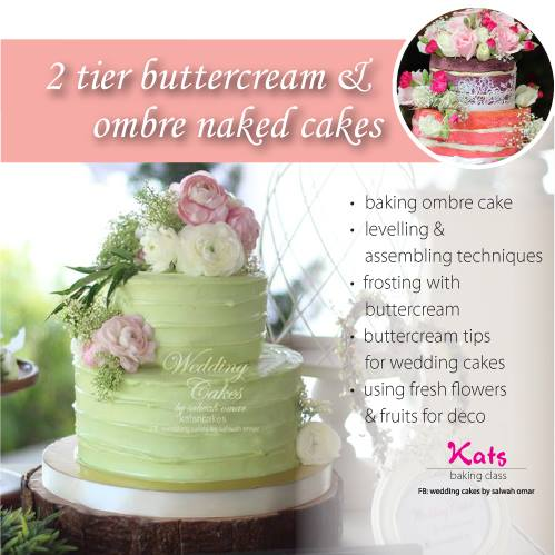 2 Tier Buttercream Ombre Naked Cake Fully Booked At Wedding Cakes