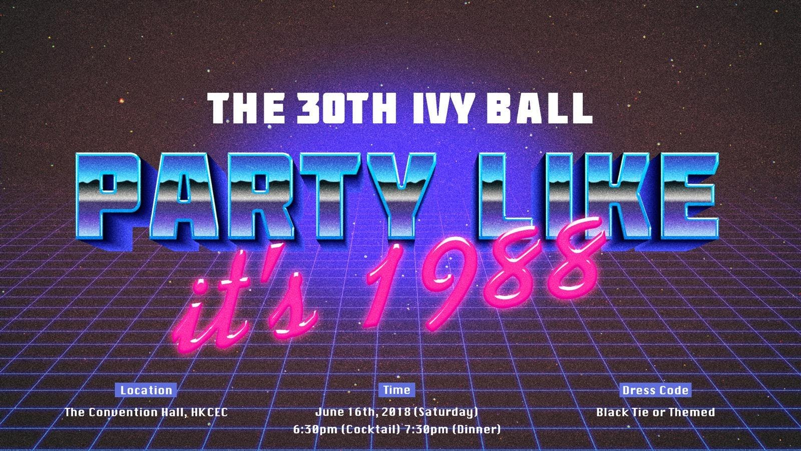 &quotParty like its 1988&quot Ivy Ball 2018