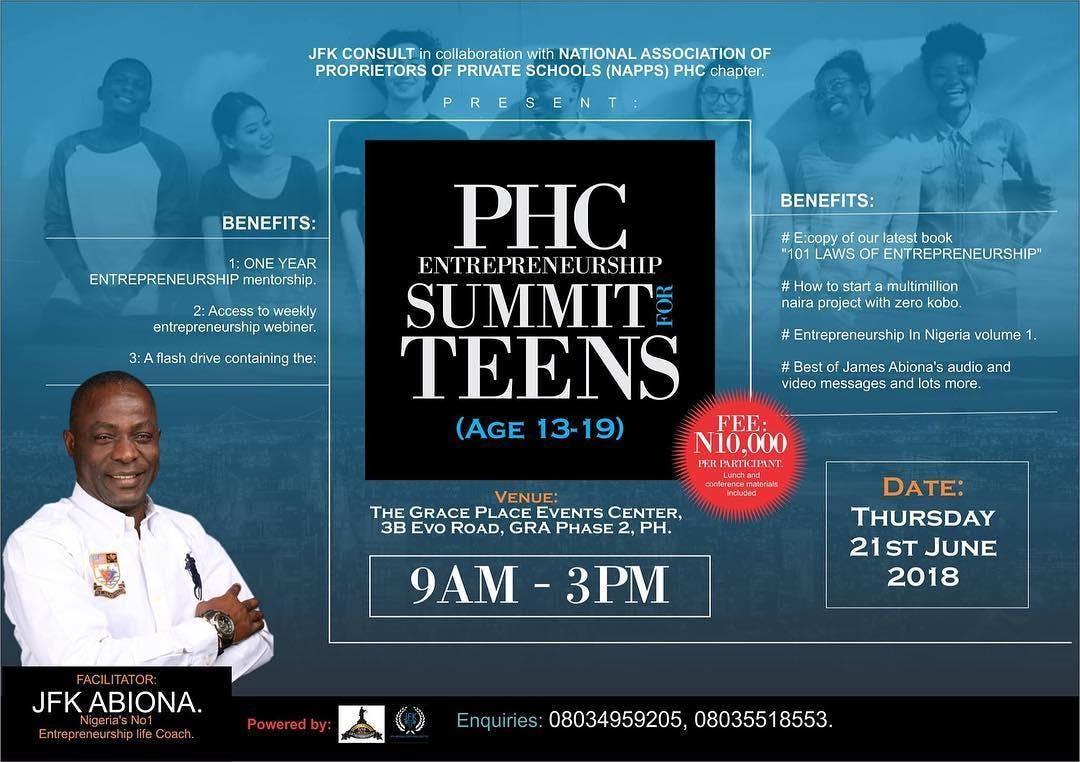 PHC Entrepreneurship Summit For Teens