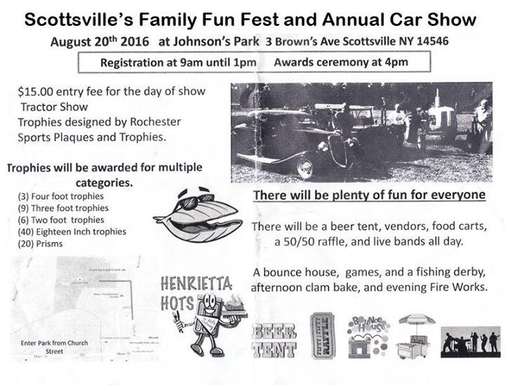 Scottsvilles Family Fest Car Show At Johnsons Park Browns Ave - Fun car show award categories
