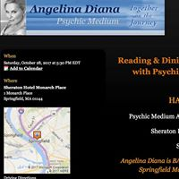 DinnerReading Halloween EventPsychic Medium Angelina Diana