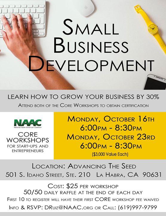 Small Business Development Core Workshops