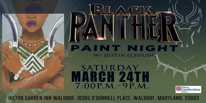 black panther paint night - Hilton Garden Inn Waldorf