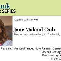 Research for Resilience w Jane Maland Cady