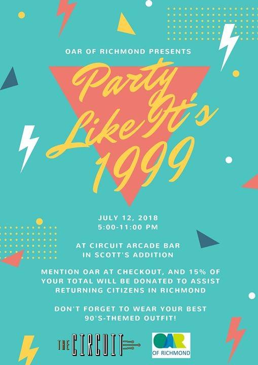PARTY Like Its 1999 at The Circuit - Arcade Bar, Virginia