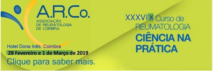 XxxviX Curso de Reumatologia Cincia NA Prtica Clnica 2019
