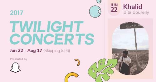 Twilight Concerts  Khalid