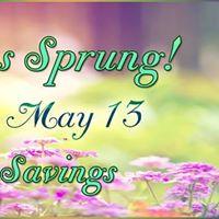 Spring has Sprung (Sales &amp Savings)