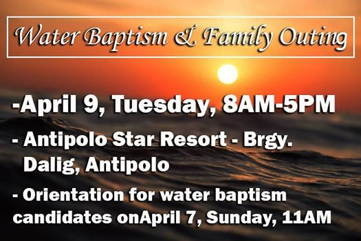Water Baptism and Church Outing