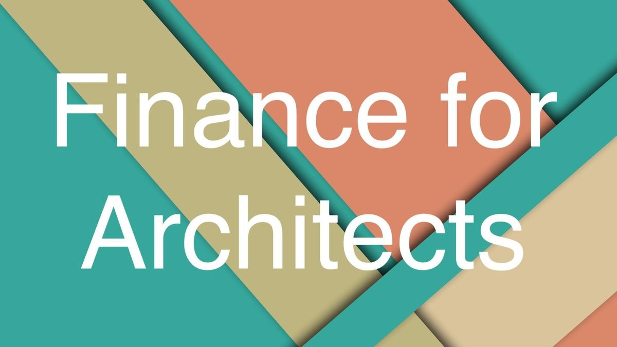 Finance for Architects