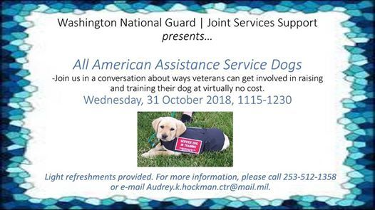 All American Assistance Service Dogs At Joint Services Support