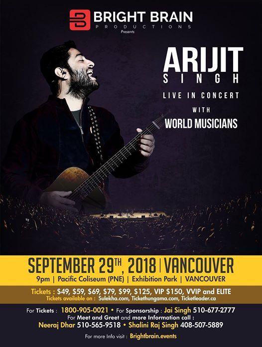 Arijit Singh Live in Concert - Vancouver