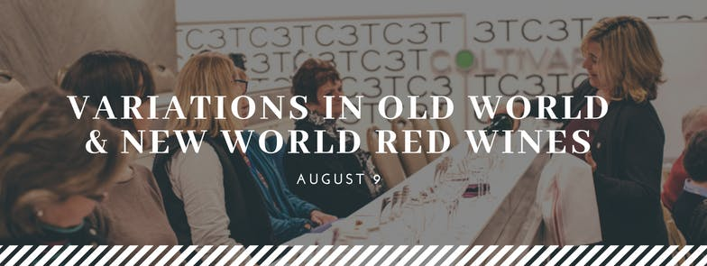Wine Series Single Class Variations in Old World and New World Red Wines