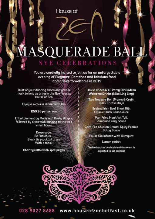 HOZ Masquerde Ball NYE Celebrations