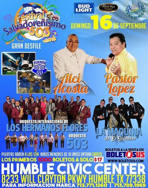 Festival Salvadoreisimo 503 2018