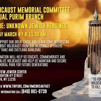 Holocaust Memorial Committee Post-Purim Breakfast
