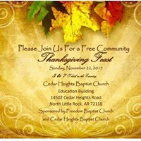 FREE Community Thanksgiving Feast