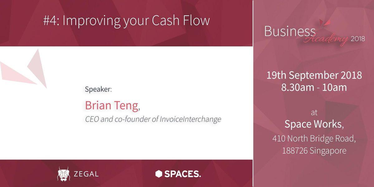 Zegal Business Academy 4 - Improving your Cash Flow