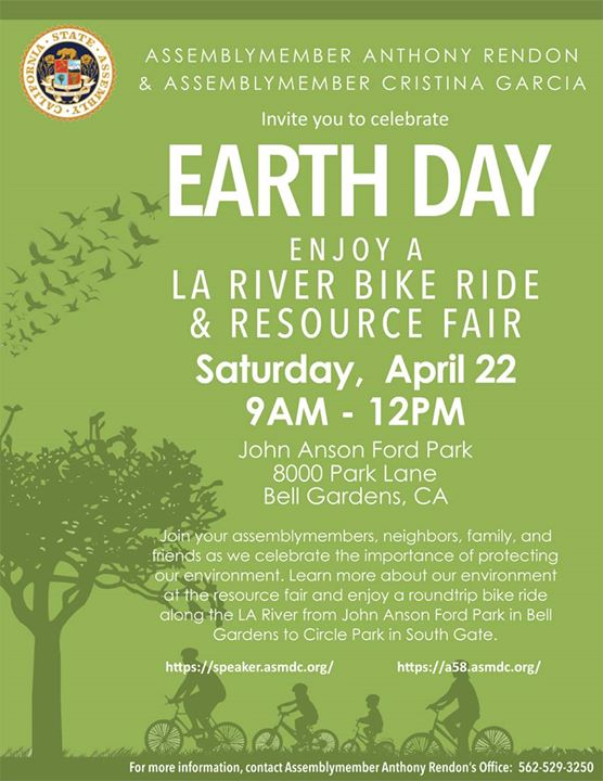 Los Angeles River Earth Day Bike Ride And Resource Fair