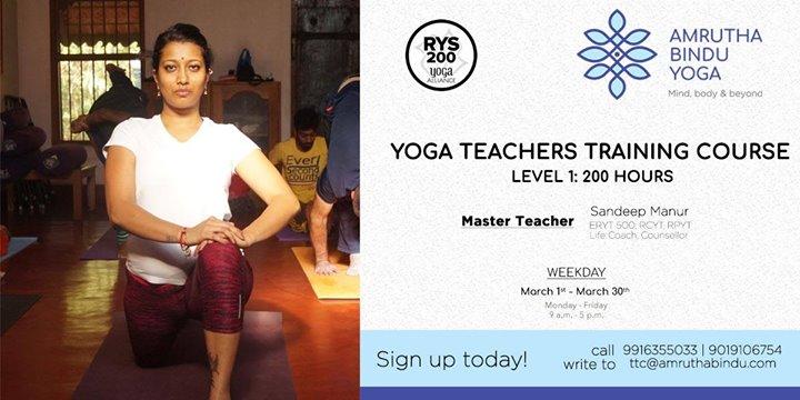 Weekday Yoga TTC  Level 1 (200 hours)