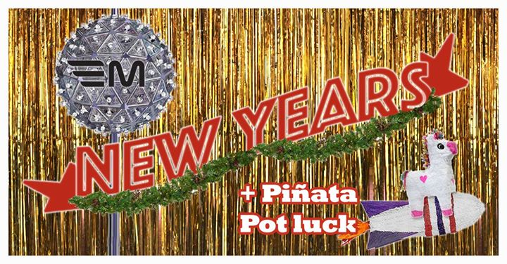 New Years Eve Piata Potluck at Mercury