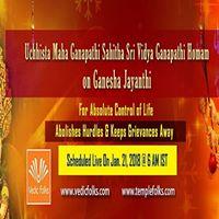 Ucchista Maha Ganapathi Sahitha Sri Vidya Ganapathy Homa