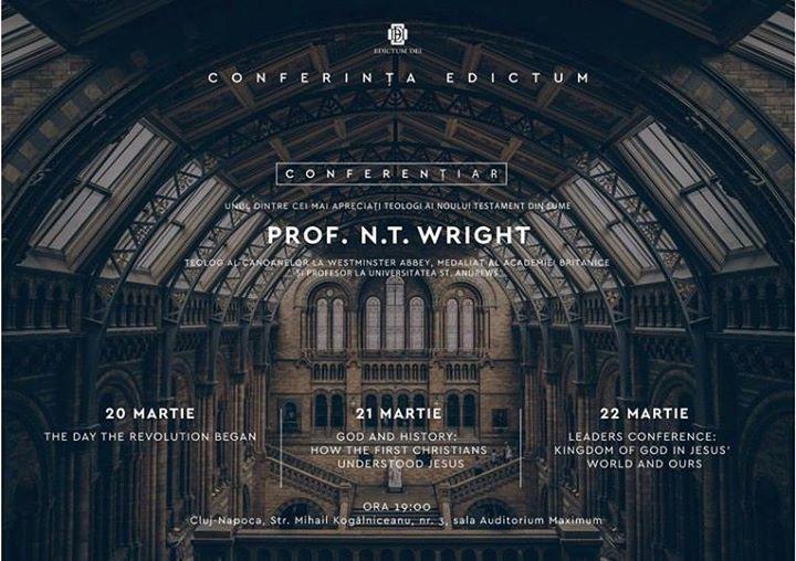 Conferinta Edictum - Prof. Nicholas Thomas Wright