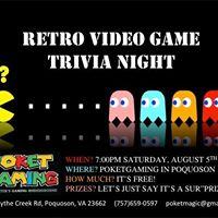 Retro Video Game Trivia Night