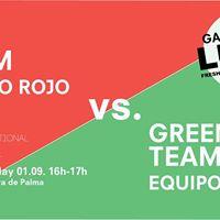 RED Team equipo rojo VS GREEN Team equipo verde