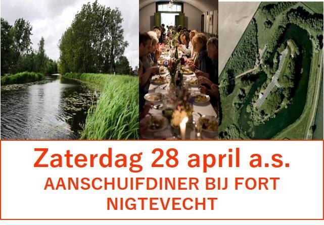 28 april - Aanschuifdiner bij Fort Nigtevecht