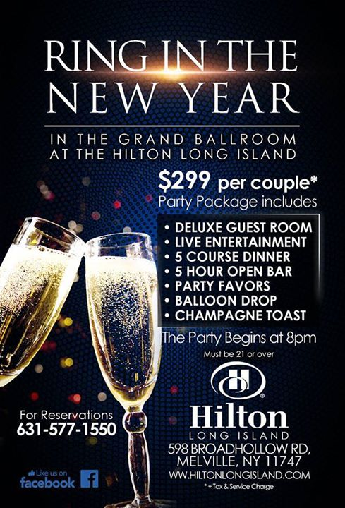 New Years Eve Celebration 2016@ Hilton Long Island/Huntington   Melville