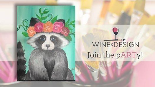 Paint & Sip  Squeakers the Raccoon