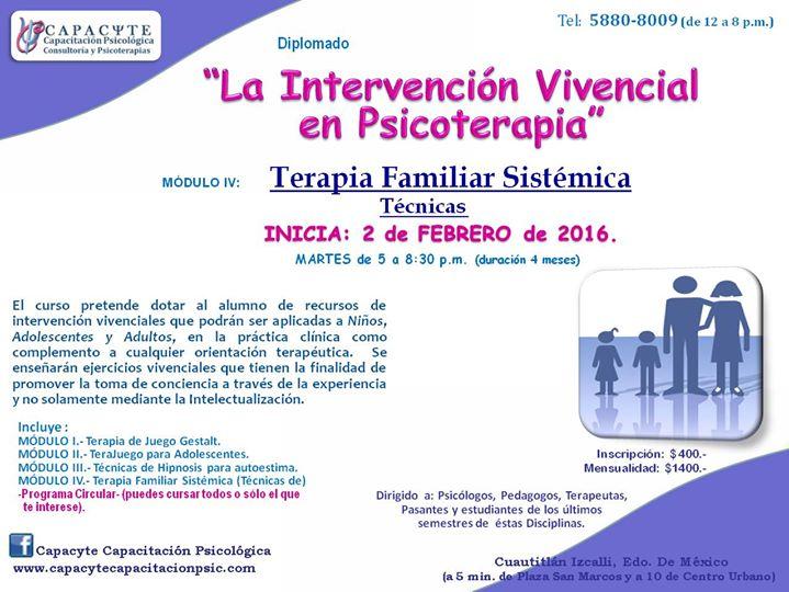Curso Terapia Familiar Sistémica Técnicas At Cuautitlán