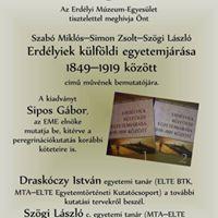 Szab Mikls Simon Zsolt Szgi Lszl Erdlyiek klfldi egyetemjrsa 1849-1919 kztt