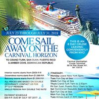 New York Carnival Cruise to Grand TurkPuerto Rico &amp DR
