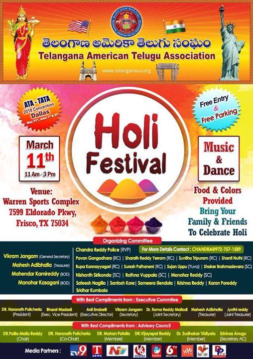 Dallas TATA Holi Festival