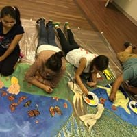 Community Banner Making and Drum Circle