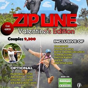 Zip line Barbecue Valentines Edition
